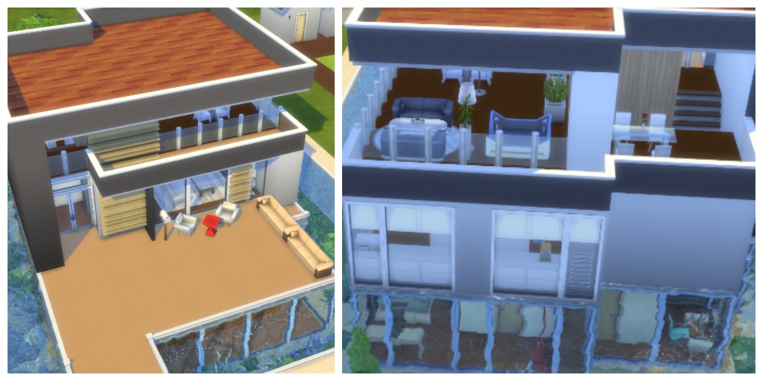 Semi-Submerged Modern Floating House