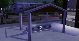 Glass-Roofed Bar Area